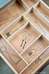 Die 11 besten Ideen für Schubladenorganisationen   – Pinworthy: KITCHEN