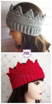 Crochet Crown Ear Warmer Free Crochet Pattern