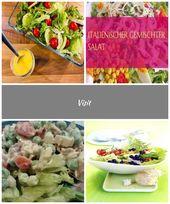Gemischter Salat mit Mango-Dressing – Salat ist nicht langweilig – #Mixed … ….. – summer-skirt