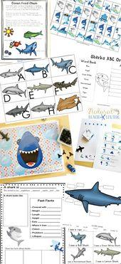 Die besten Aktivitäten zum Ausdrucken von Haien für Kinder – Shark Lesson Plans – summer school