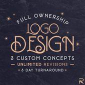 Custom Logo Design Package – 3 Unique Concepts – Professional Business Branding Photography Radio Po