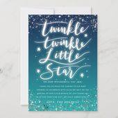 Baby Showers Twinkle Twinkle Little Star Blue Ombre Baby Shower Thank You Card