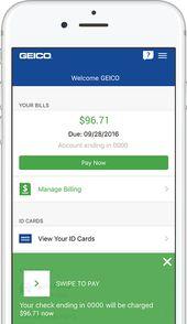Geicos Mobile App Free Insurance App Geico In 2020 Geico Car