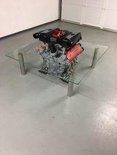 Coffee Table Engine Ferrari 355 En 2020 Table Basse Design Table Basse Interieur Contemporain