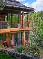 Modern-rustikale Blockhütte bewahrt historischen Charme in Steamboat Springs