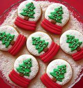 ¡25 tutoriales e inspiración de galletas de azúcar navideñas! #cakecookies   – cake cookies