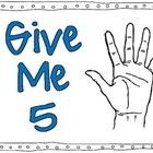 Give me 5- computer lab