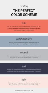How to Create The Perfect Color Scheme – OR I coul…