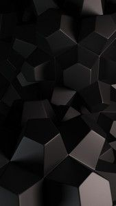Whatsapp Wallpapers Abstract 3d Hexagons Hitam Minimalis