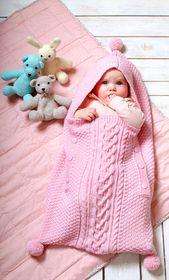 Baby Blanket Baby-Schlafsack im Mustermix - kostenlose Strickanleitung