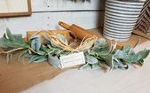 Lambs Ear Swag, Farmhouse decor, fixer upper, gifts for her, fall decor, front door wreath, wall dec