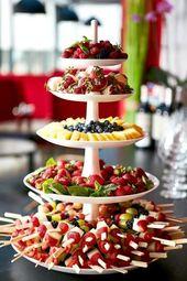 Pastel de boda frutas   – Hochzeit
