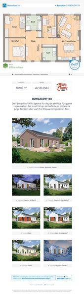 #Bungalow Grundriss Massivhaus 102 m offene Küche   – Shed plans