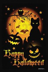 Scary Halloween Garden Flag – CozyNature