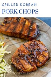 The Best Grilled Korean Pork Chops Recipe