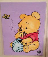 Winnie the Pooh Arylic auf Leinwand von TheWheelPrespective auf Etsy