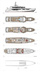 Maxima 47 Yacht for Sale Layout Admiral Motor.. | superyachts.com
