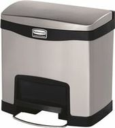 Rubbermaid Commercial Products Slim Jim Front 4 Gallon Step On Curbside Trash Recycling Bin In 2020 Trash Recycling Bin Recycling Bins Trash Disposal