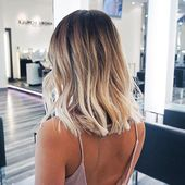 Short ombre hairstyle