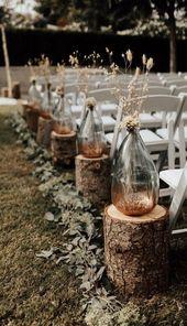 schicke herbst hochzeitsgang ideen mit flaschen – Angelica Heitzinger Dekoration Blog