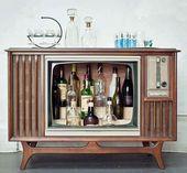 3 Mini Bar Ideen aus einem alten Fernseher