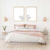 Set of two prints love quote printable love quote bedroom wall decor
