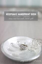 Elegant Salt Dough Handprint Dish – Sweet Anne Des…