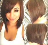 Trendige Kurzhaarschnitte für runde Gesichter ,  #gesichter #kurzhaarschnitte #…