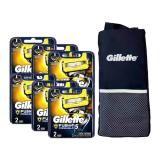 Kit Com 12 Cargas Gillette Fusion Proshield 1 Porta Chuteira