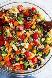 Backyard Veggie Pasta Salad – Cooking Elegant