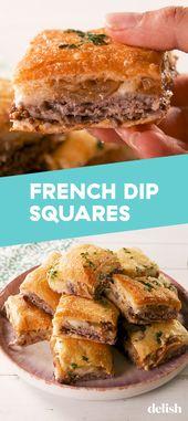 French Dip Squares Crack Huhn und Knödel ist eine Variante der klassischen Version …   – wedding