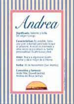 Nombre Andrea Significados De Los Nombres Nombres De Mujer Españoles Imágenes De Nombres