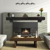 Pearl Shenandoah Espresso Fireplace Mantel Shelf 60 Modern Fireplace Mantels Wood Fireplace Mantel Fireplace Hearth Decor