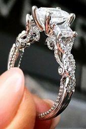 Detalles sobre el anillo de compromiso de diamante solitario de princesa de 2 ct, oro blanco de 14 ct   – the day