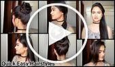 Daily quick simple hairstyles // Indian hairstyles for middle / la #Simple i …