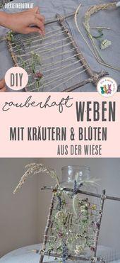 Weben mit Blüten