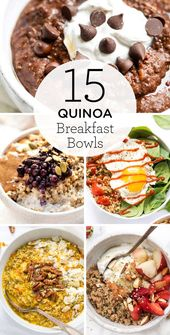 Tschüss Haferflocken, HALLO Quinoa Breakfast Bowl…