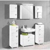 Reduced bathroom wall cabinets