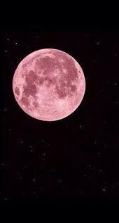 Pink Moon Tumblr für Mobile Wallpaper – #für #Mo…
