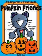 Cat's Pumpkin Friends {2 lustige, aufstrebende Leser, handwerkliche und grafische Aktivitäten}
