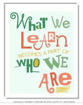 Gadgets much like What We Be taught Turns into A Half Of Who We Are Print Classroom Decor Wall Artwork Trainer Appreciation Present Educating Quote Poster Again To College on Etsy