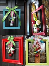 Easy and Fun DIY Christmas Crafts for the Home – Picture Frame Wreaths