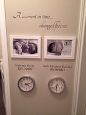 Family Wall Decal – A Moment In Time changed forever with set of names and dates – Family room decor – Wallapalooza Wall Decals – Wall Art