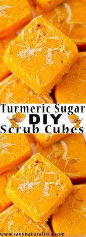Turmeric Sugar Scrub Cubes