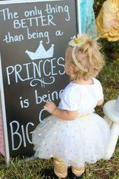 Große Schwester schwärmt Schwangerschaft Ankündigung Prinzessin Tea Party Ph …