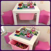 Kleine Raumidee für das Wohnzimmer! Ein dünner Tisch mit eingebauter