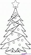 How To Draw A Simple Christmas Tree Step By Step Christmas Stuff Christmas Tree Drawing Tree Coloring Page Christmas Drawing