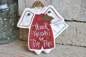 Pop Pop Gift Salt Dough Father's Day Ornament Grandfather Birthday / Christmas