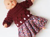 Vêtements pour bébé, vêtements de poupée 30 cm, cadeau pour enfant, premier câlin, corolle 30 cm, soutien-gorge, jupe, liberté   – Vêtements de poupées, Doll clothes