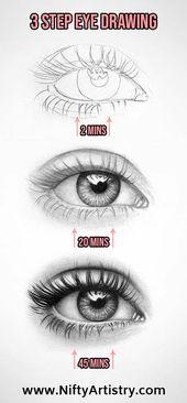 NEUE detaillierte & realistische Augenzeichnung #NiftyArtistry – #Detailed #drawing #Eye #ilustration
